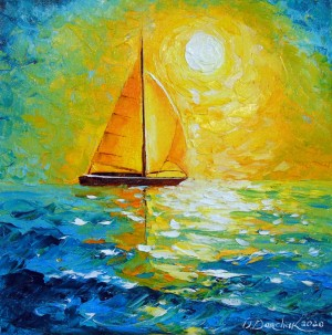 Sailboat in the sunlight by Olha Darchuk