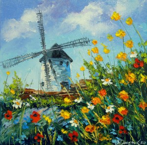 Mill in the field  by Olha Darchuk