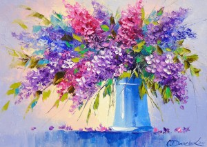 Bouquet of lilacs in a vase by Olha Darchuk