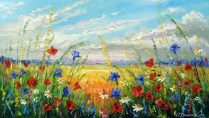 Flowers in a field by Olha Darchuk