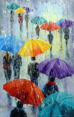 Bright rain outside  by Olha Darchuk
