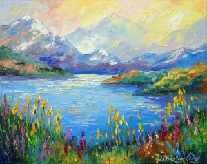 Lake in the Alps by Olha Darchuk