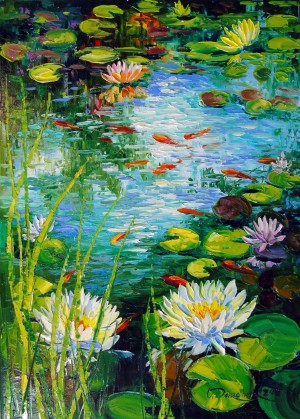 Mesmerizing pond by Olha Darchuk