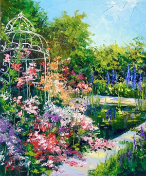 Blooming pond by Olha Darchuk