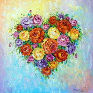 My heart blooms when you are near an by Olha Darchuk