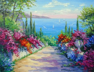 Sunny road to the sea by Olha Darchuk