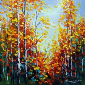 Autumn breath of birches by Olha Darchuk
