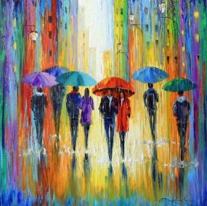 Melange rain  by Olha Darchuk