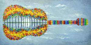 Happy guitar by Olha Darchuk