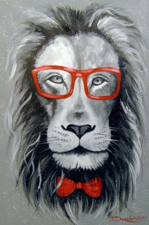 Fashionable Lion  by Olha Darchuk