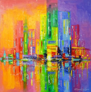 City of happy people by Olha Darchuk