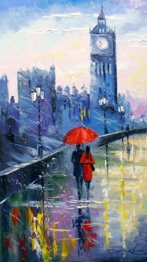 Rain in London by Olha Darchuk