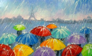 Rain in Paris by Olha Darchuk