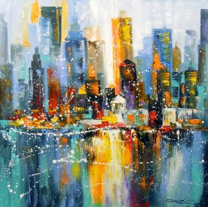 The first snow in the metropolis by Olha Darchuk
