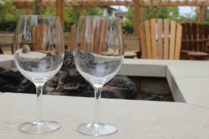 Wineglasses by Firepit by Pirate Art Dept  Inc