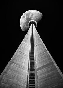 CN Tower Moon by Robert G Lyons