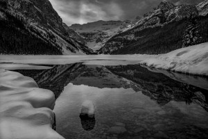 Lake Louse winter  by Robert R  Grove