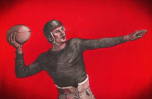 1921 Quarterback Art by Row One Brand