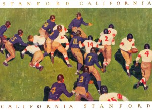 1927 cal stanford big game art vintage college football by Row One Brand