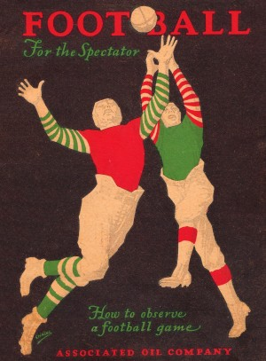 1928 football spectator how to observe a football game by Row One Brand