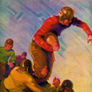 1928 Vintage Football Art by Row One Brand