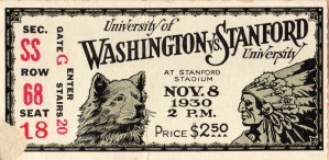 1930 Washington vs. Stanford by Row One Brand