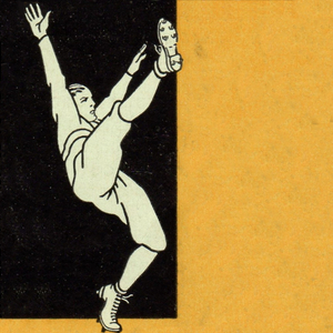 1931 Vintage Football Punter Art by Row One Brand