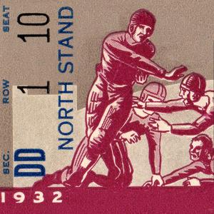 1932 Football Ticket Stub Remix Art by Row One Brand