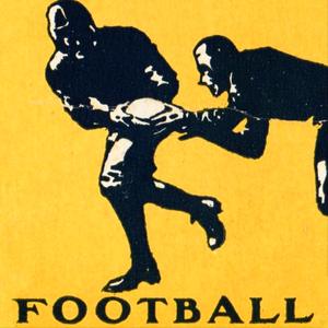 1932 Vintage Football Ticket Stub Remix Art  by Row One Brand