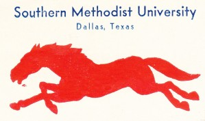 1933 SMU Mustangs Art by Row One Brand