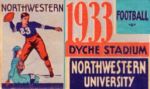 1933 Northwestern Football by Row One Brand