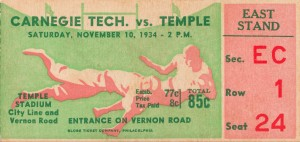 1934 carnegie tech temple owls temple stadium vernon road city line philadelphia by Row One Brand