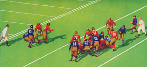 1934 Vintage Football Action Art by Row One Brand