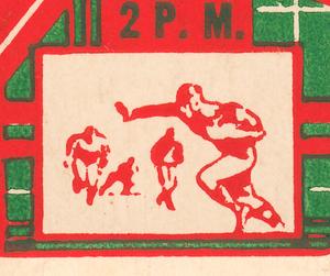 1936 Football Ticket Stub Art by Row One Brand
