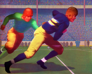 1934 Vintage Touchdown Sprint Football Art by Row One Brand