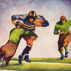 1935 Vintage Football Art by Row One Brand