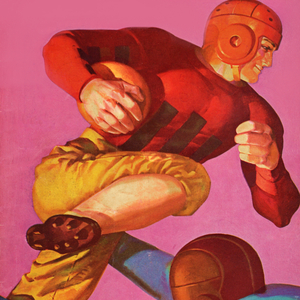 1935 Football Running Back Art by Row One Brand