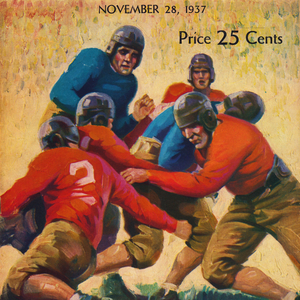 1937 Vintage Football Program Cover Art by Row One Brand