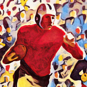 1937 Football Running Back Art by Row One Brand