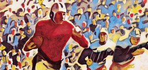 1937 Vintage Football Art Running Back Artwork by Row One Brand