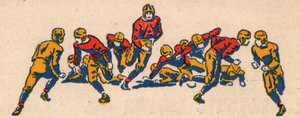 1938 Vintage Football Art  by Row One Brand