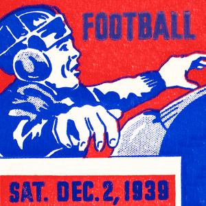 1939 Football Ticket Stub Remix Art by Row One Brand