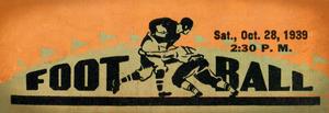 1939 Vintage Football Ticket Stub Remix Art by Row One Brand