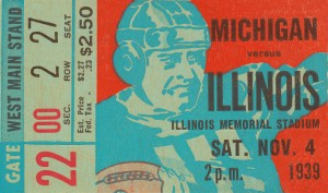 1939 Michigan vs. Illinois by Row One Brand