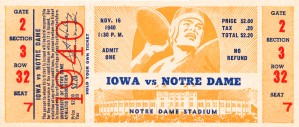 1940 notre dame football art by Row One Brand