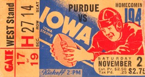 1940 Iowa vs. Purdue by Row One Brand