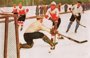Vintage Hockey Art by Row One Brand