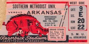 1941 SMU vs. Arkansas by Row One Brand