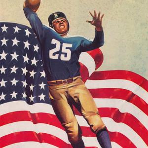 1941 American Quarterback Football Art by Lon Keller by Row One Brand