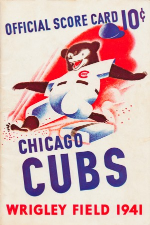 1941_Chicago_Cubs_Score_Card_Art_Poster_Canvas_Metal_Wood_Print by Row One Brand